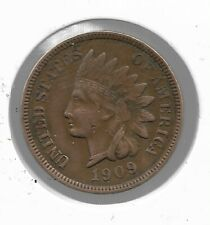 Rare Very Old Antique 1909 Us Indian Head Penny Collectible Cent Collection Coin