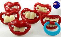 1x Baby shower Boy Girl Funny Pacifier Teeth Orthodontic Teeth Dummies  PROP