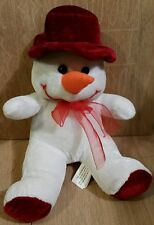 """Plush snowman red and white 8"""""""