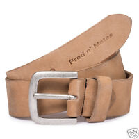 New Womens Mens Fred N' Mates SOFT Genuine Suede Leather Belt Camel Black Brown