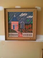 Degroot Lath Art - Brick House Unique Piece - Artist Signed