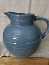 Cooks Club~80 Oz~Heavy Ceramic Beverage/Water Pitcher~Wedgewood Blue (B35)
