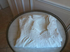 """Chemise ancienne Lin fin coutures et broderie """"Fait Main"""" Monogramme EJ. N°4"""