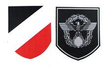Helmabzeichen Stahlhelm Abziehbild Wasserlöslich Decal Wehrmacht Polizei