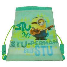 Despicable Me Minions Stuart Library Sport Swim Drawstring Trainer Bag Licensed