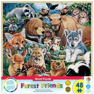 Masterpieces - Wood Fun Facts Forest Friends Jigsaw Puzzle (48 Pieces)