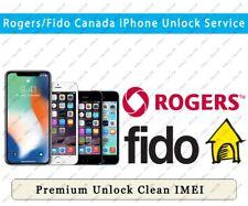 Unlock Roger & Fido Canada iPhone 11 Pro Max/11 Pro/11/Xs Max/Xs/Xr/X/8/8+/7/7