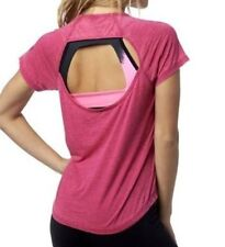 NWT WOMENS FOX RACING WHIRLWIND PINK BURNOUT KEYHOLE BACK TOP TEE L LARGE