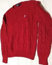 Red Ralph Lauren sport Sweater boys Medium