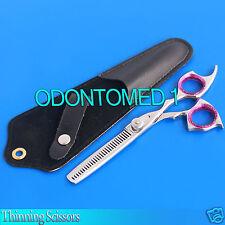 """Pet Dog Cat Grooming Hair Thinning Scissors Shears 5.5"""" - Purple Finger SR-542"""