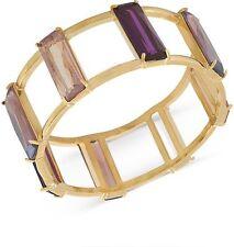 Carolee Gold-Tone Winter Pink Stone Bangle Bracelet NWT