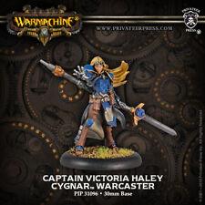 Warmachine: Cygnar Captain Victoria Haley Warcaster (metal resculpt) PIP 31096