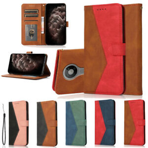 For Nokia 2.3 2.4 3.4 5.3 5.4 6.2 7.2 X10 G10 Color Matching Leather Case Cover