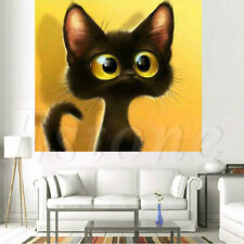 5D DIY Cross Stitch Diamond Embroidery Painting Home Decoration Big Eye Pet Cat