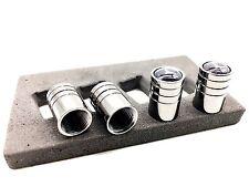 Black Gunmetal Chrome Tire Valve Stem Caps for MERCEDES-BENZ B C CLA E G GLK S