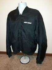 Mens Vintage Ski-doo Black Light Weight Bomber Jacket