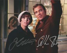 WILLIAM SHATNER JOAN COLLINS SIGNED 10X8 PHOTO STAR TREK CITY ON EDGE OF FOREVER