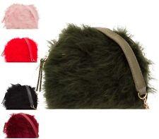 Womens Evening Clutch Bag/party Purse Furry Handbag Chain Strap Ladies Girls