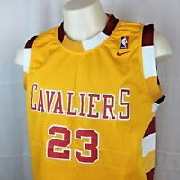 LeBron James Cleveland Cavaliers Jersey Nike NBA Cavs Length +2 Gold Large EUC