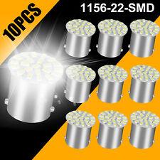 10pcs White Led 1156 Ba15s 1206 22smd Brake Turn Tail Revese Light Bulb Lamp 12v