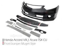 Front Bumper Mugen Style for Honda Accord VIII 8 / Acura TSX CU Body 2008-2013