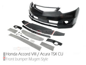 Front Bumper Mugen Style for Honda Accord VIII 8 / Acura TSX CU2, CW2 08-14