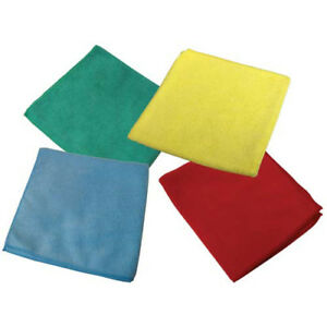 Impact Products LKF300 Economy Microfiber Cleaning Cloths, Green, 12/Bag