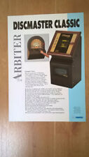 Arbiter Discmaster Classic Jukebox Sales Brochure / Flyer / Pamphlet