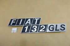 Genuine CLASSIC FIAT 132 GLS  REAR BADGE EMBLEM LOGO NOS