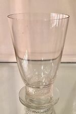 Rare Signed Lalique French Crystal Footed Footed Tumbler