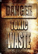 """""""DANGER TOXIC WASTE"""" Metal Sign, No. 678"""