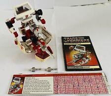 Transformers G1 Ratchet 1984 Autobot, complete w.Instructions, Tech Specs + Accs
