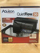 New listing Aqueon Quiet Flow 30 Power Filter For Aquariums. 200 Gph.