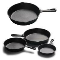 Universal Kitchen Cast Iron Skillet 14/16/20/25cm Non-Stick Fry Pan Cookware