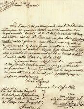 Lettera Autografo Francesco Pistolesi Socio Accademia Labronica Livorno 1817