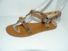 Damen-Sandalen & -Badeschuhe aus Wildleder ohne Muster für die Freizeit