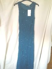 Adini bias cut viscose georgette beaded and sequinned full length eve drs XS/M