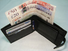 GENUINE Top Quality Mens Leather Wallet WITH Back Zip and Coin Pocket Goat Skin