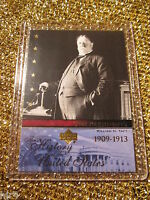 US President William Bill Taft United States Upper Deck USA Trading Card