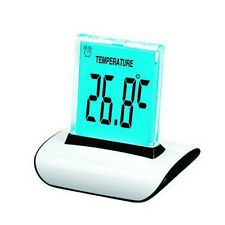 7 LED Color Changing Digital LCD Thermometer Calendar Alarm Clock Night Light