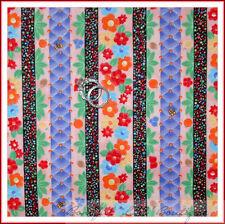 BonEful Fabric FQ Cotton Quilt Thanksgiving Xmas Dot Stripe Flower Purple Red NR