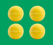4 Yellow Foosballs - Textured Table Soccer Balls - Dynamo