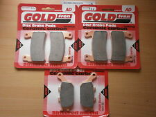 GOLDFREN FULL SET BRAKE PADS (3x Sets) for: HONDA CBR 600 RR3/RR4 (03-04) CBR600