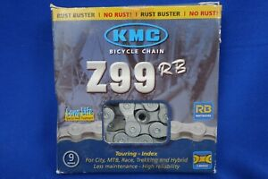 New KMC Z99 RB Rust Buster 9-speed Bike Chain - 119 Links, with Quick Link