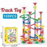 109Pcs Marble Run Construction Gaming Building Blocks Race Maze Track Gift Kids