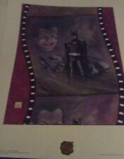 BATMAN 1989  SIGNED BOB KANE  2 LITHOS BOB KANE'S TRIBUTE TO BATMAN