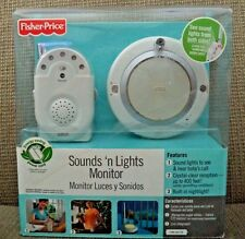 FISHER PRICE SOUND'S N LIGHT MONITOR WITH ENERGY SAVING CORD M5579 *NEW*