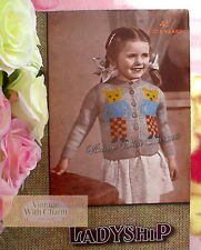 Vintage 1940s Knitting Pattern Boys & Girls 'Teddy' Cardigan. Fit 25in. Chest