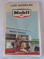 VINTAGE 1965 Mobil California City Los Angeles Road Map Travel Guide