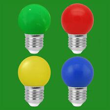 10x 3W LED Coloured ES E27 Golf Ball Light Bulb Lamp Red Yellow Green Blue